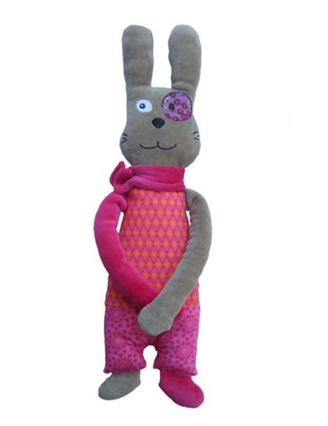 Doudou Lapin Fille Louison 30 cm On chuchote - Made in France