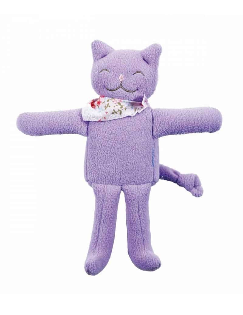 Doudou Chat Musical Mauve 20 cm Trousselier -